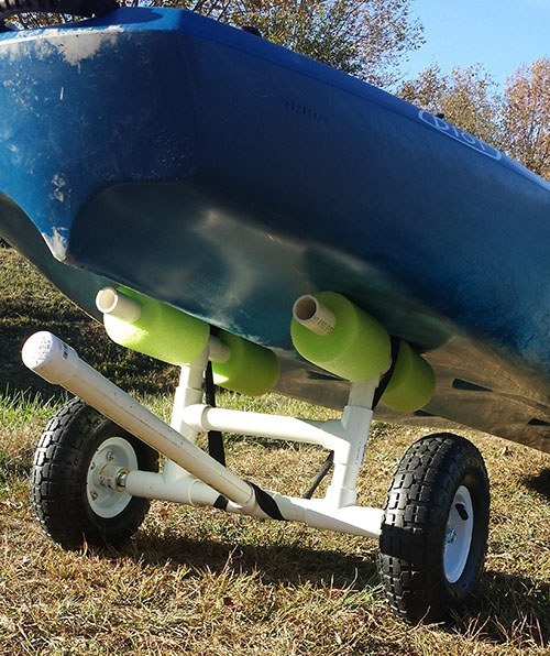 Inexpensive diy kayak cart that will last forever gear cloud for Homemade fishing cart