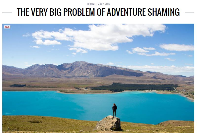 big problem - adventure shaming