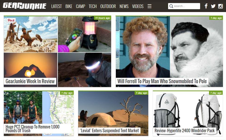 ten best outdoor blogs - gearjunkie.com