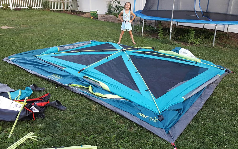 coleman lake tenaya tent setup