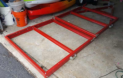 diy kayak trailer