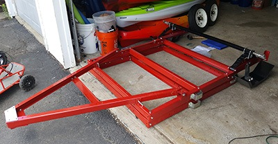 diy kayak trailer