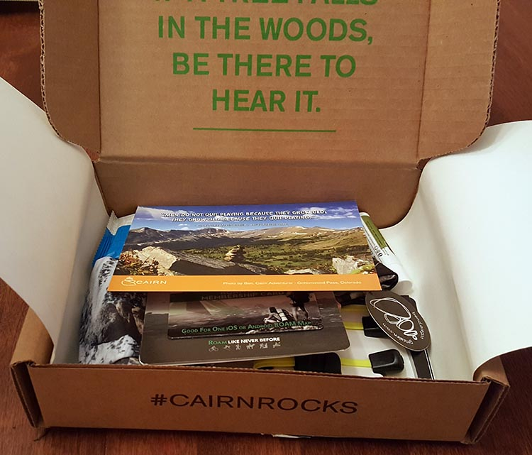 opened cairn box