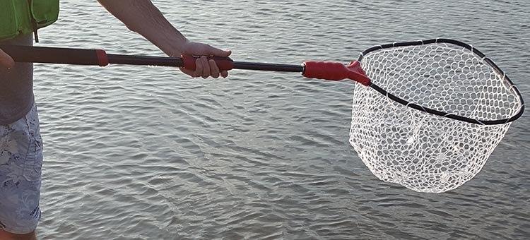 ego s2 slider extended fully - best kayak fishing net