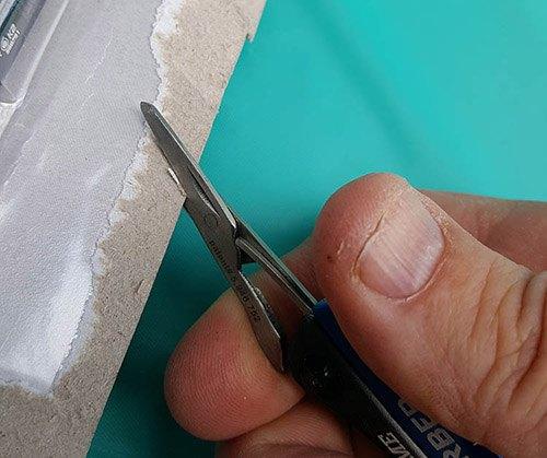 gerber dime scissors cutting cardboard