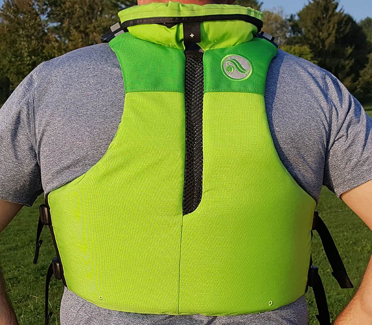 back view of the astral ronny fisher pfd