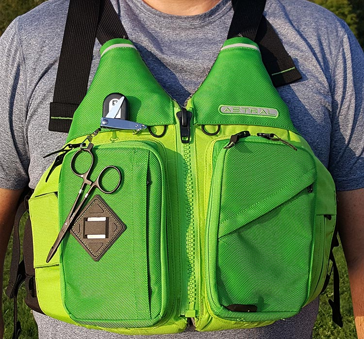 front view of the astral ronny fisher life vest