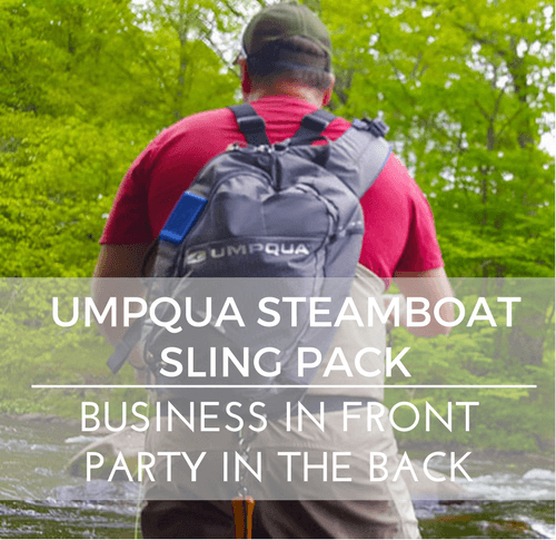 The Umpqua Steamboat Sling Pack. Business in the Front, Party in the Back.