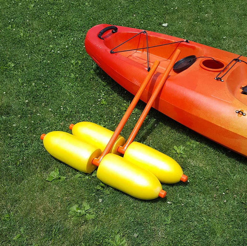 finished diy kayak outriggers