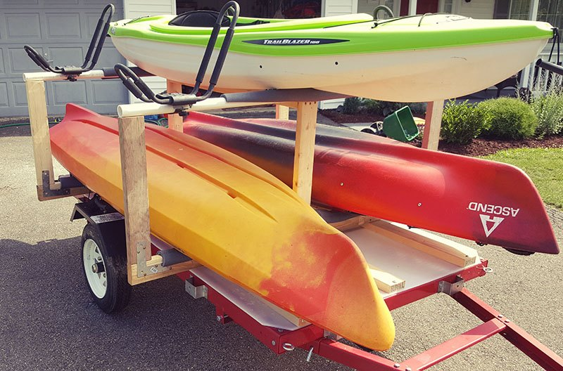 The DIY Kayak Trailer That Saves Your Back and Budget