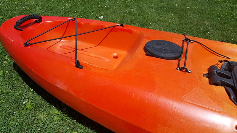 mounting location for diy kayak stabilizers