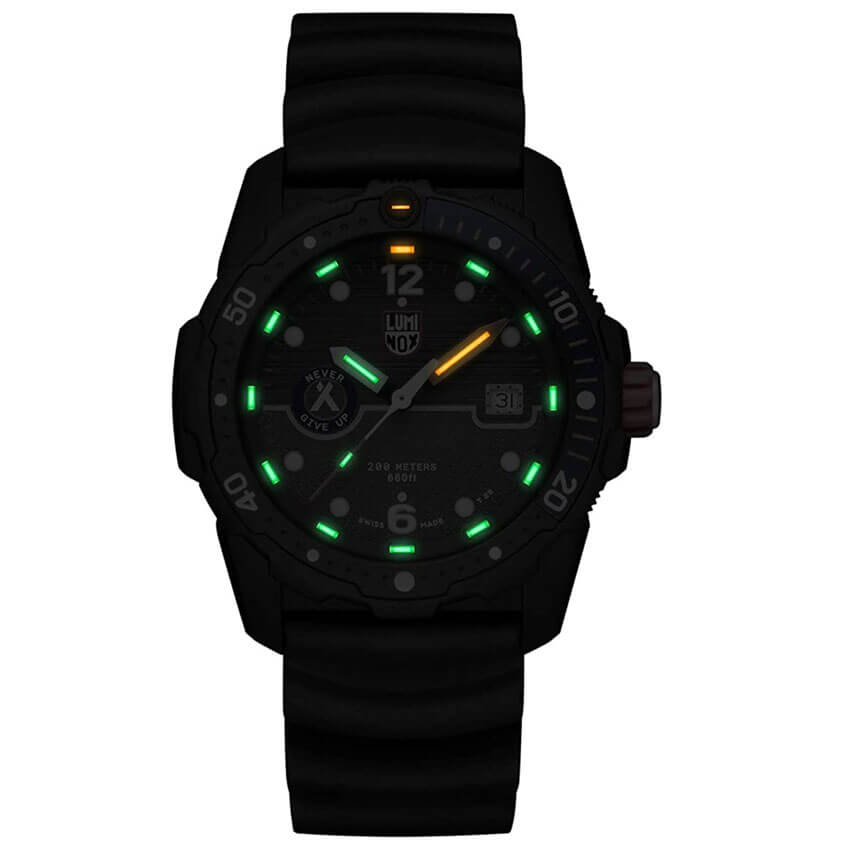 Bear Grylls Luminox 3723 Sea Series Watch illuminate