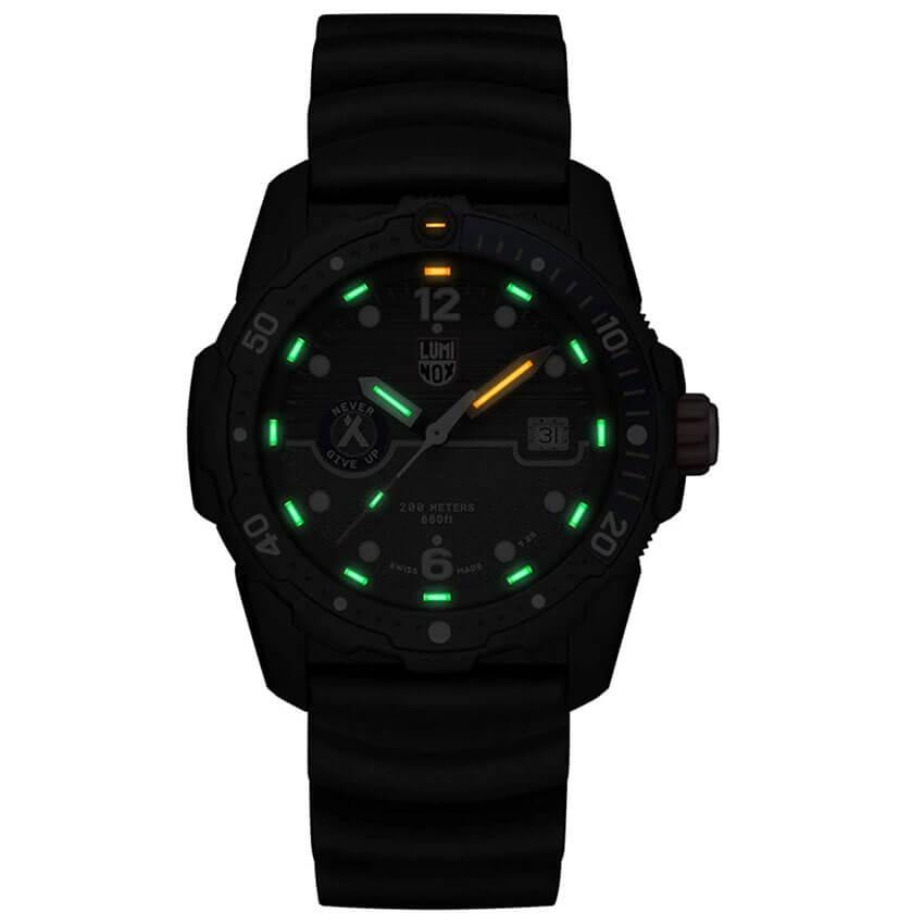 Bear Grylls Luminox 3723 Sea Series Watch illuminate