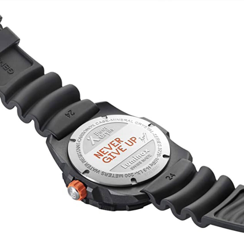 Bear Grylls Luminox 3729 Sea Series Watch back