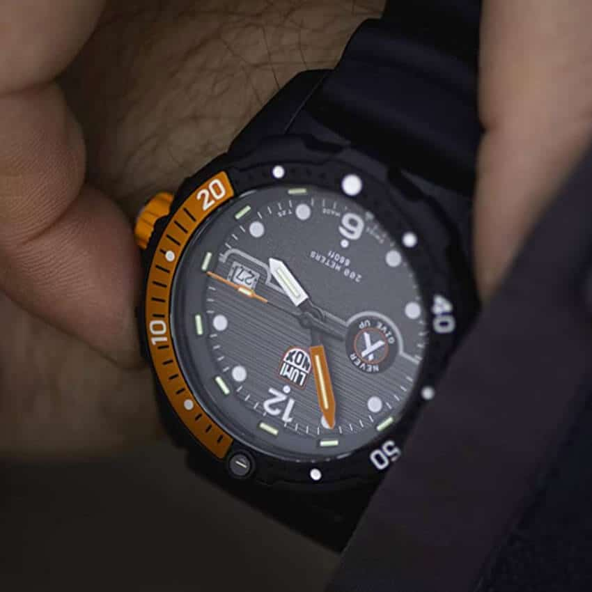 Bear Grylls Luminox 3729 Sea Series Watch close up