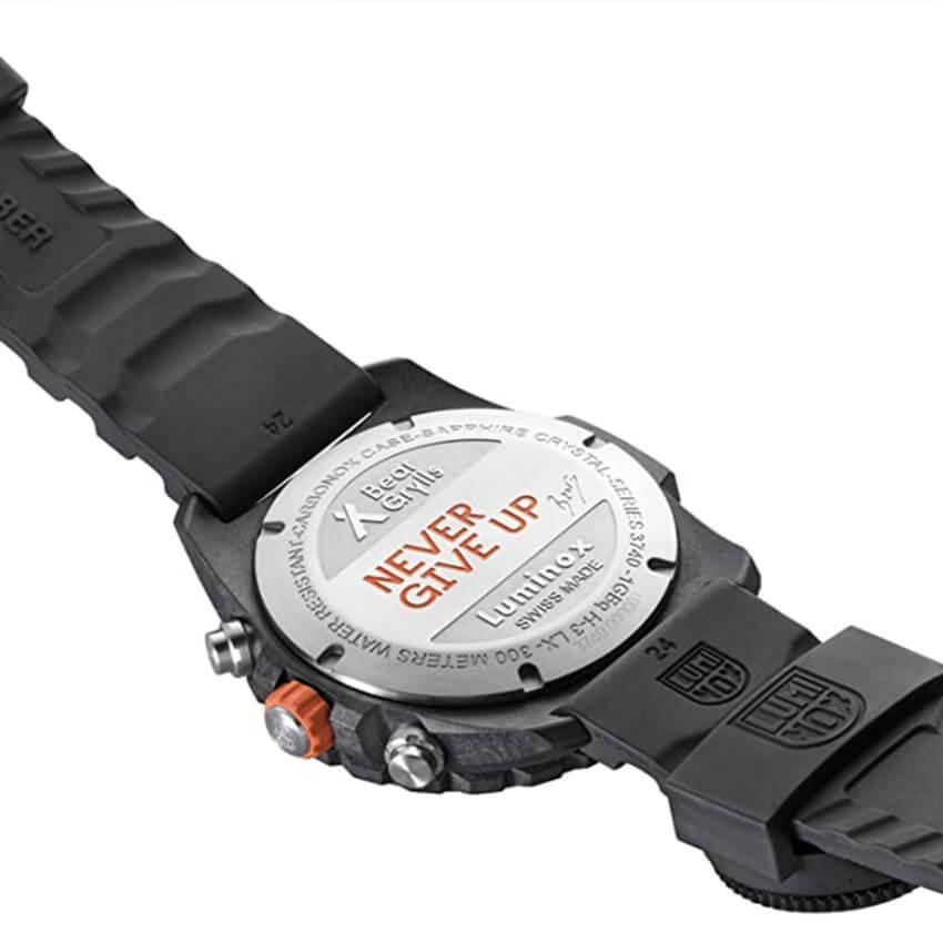 Bear Grylls Luminox 3741 Master Series Watch back