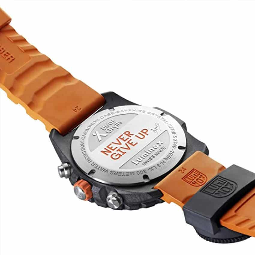 Bear Grylls Luminox 3749 Master Series Watch back