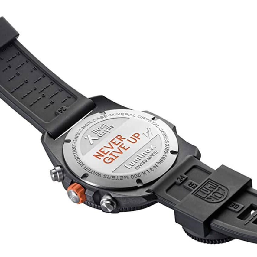 Bear Grylls Luminox 3782 Land Series Watch back