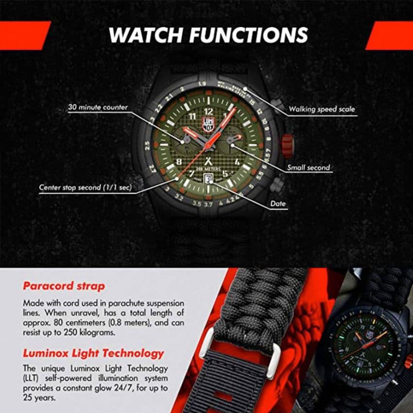 Bear Grylls Luminox 3798 Land Series Watch functions