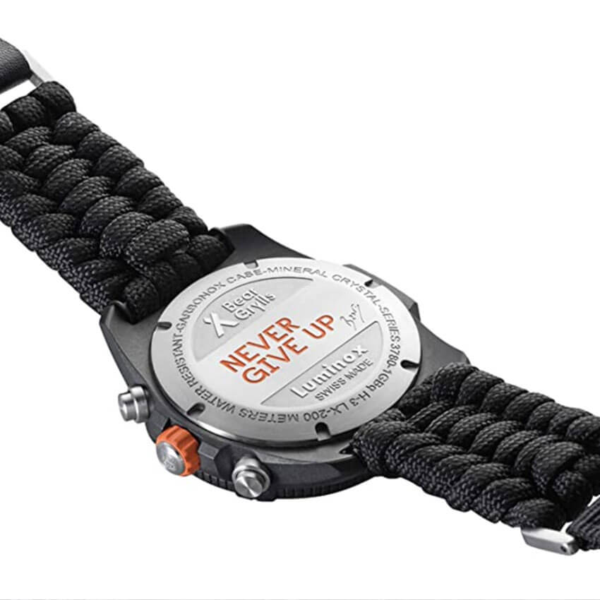 Bear Grylls Luminox 3798 Land Series Watch back