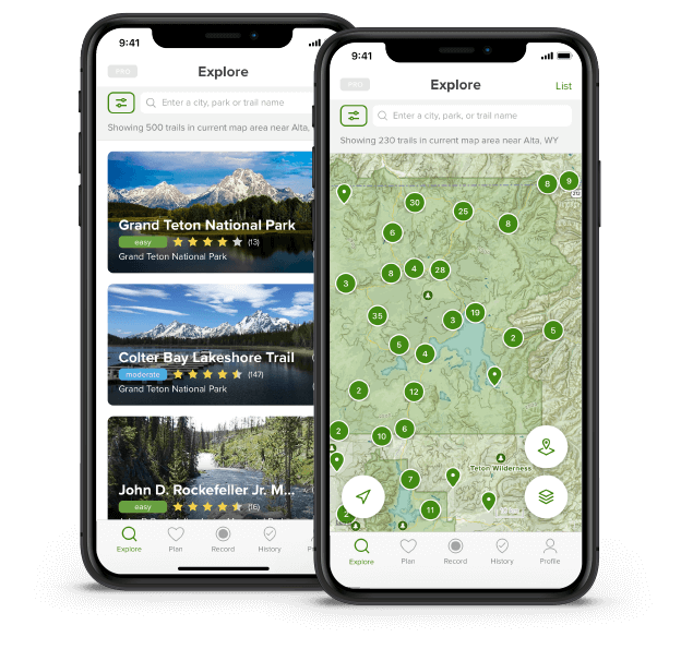 Find a trail with the AllTrails app